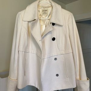 "White ""Peacoat"" jacket"